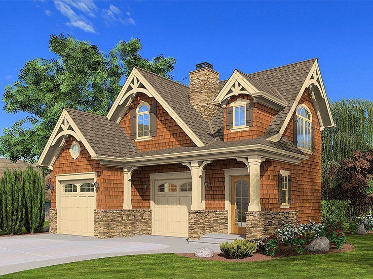 Garage With Apartment Above Garage House Pinterest The Roof - Craftsman garage with apartment above plans
