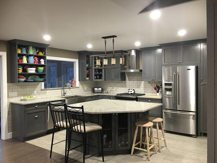 Grey shaker cupboards