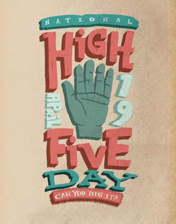 April 19: national high five day