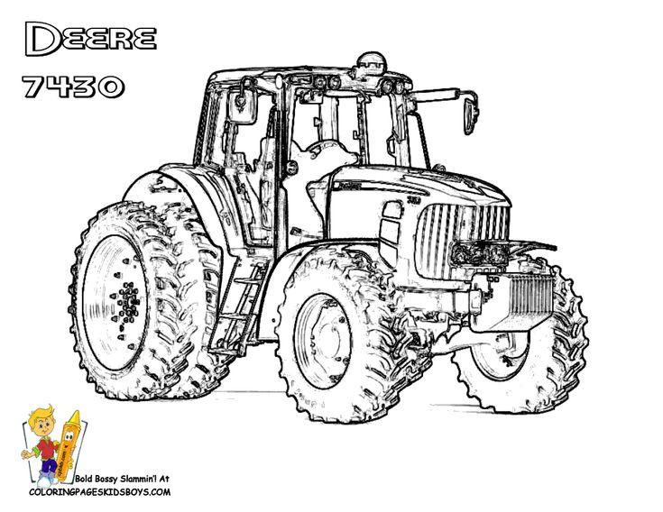 25+ parasta ideaa pinterestissä: ausmalbilder traktor ... - John Deere Combine Coloring Pages
