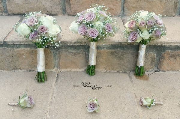 Bridesmaids bouquets and groomsmen buttonholes - Floral Design  by www.pinkenergyfloraldesign.co.za
