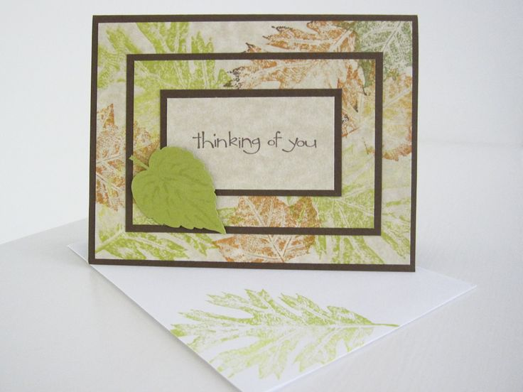Stampin Up Triple Time Card. Cute idea with the leaves
