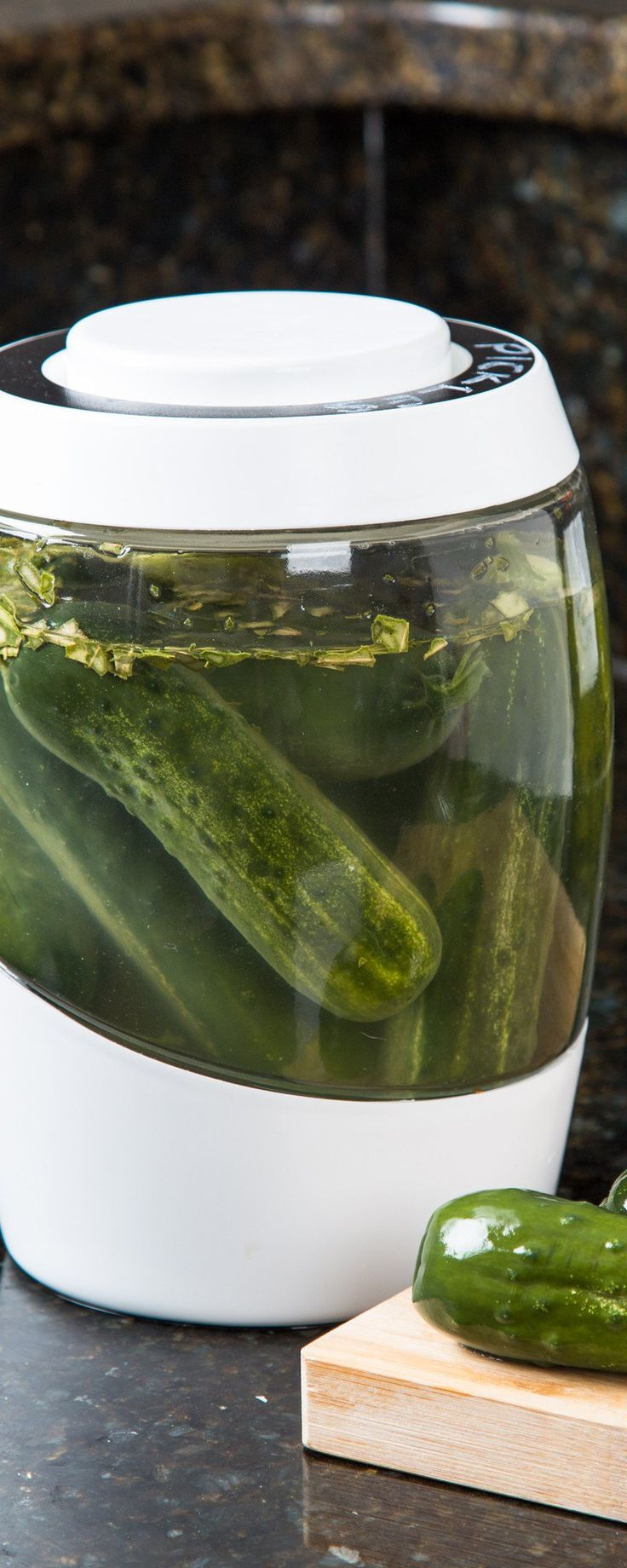 Mortier Pilon's home fermentation crock, discovered by The Grommet, keeps air out but lets gases escape. Ferment your own nutrient-rich foods, in style.