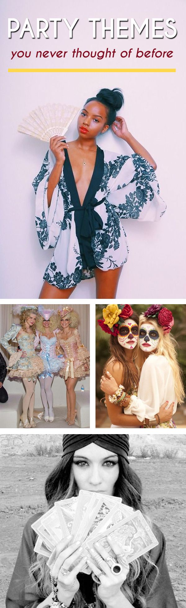 We've all been to countless parties with tired, overdone themes (do Toga, CEOs and Office Hoes, and White Trash themes ring a bell) - so it's time to do something new! Here are 15 mixerthemes you and your sisters should definitely try this year to have...