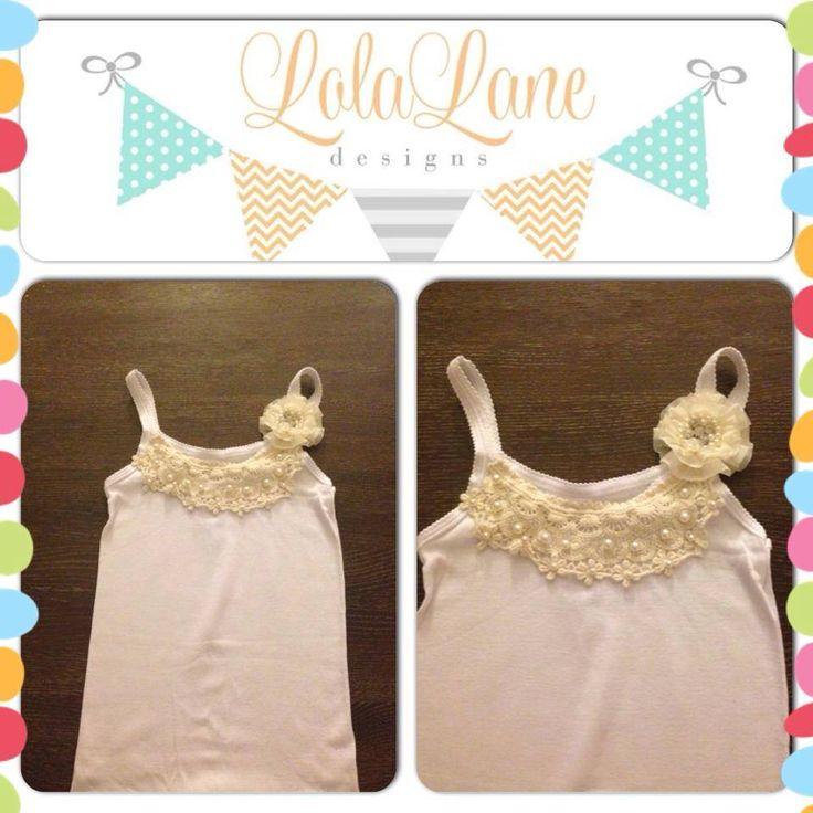 Handmade by Lola Lane Designs Girls size 8 Pearly Princess Singlet