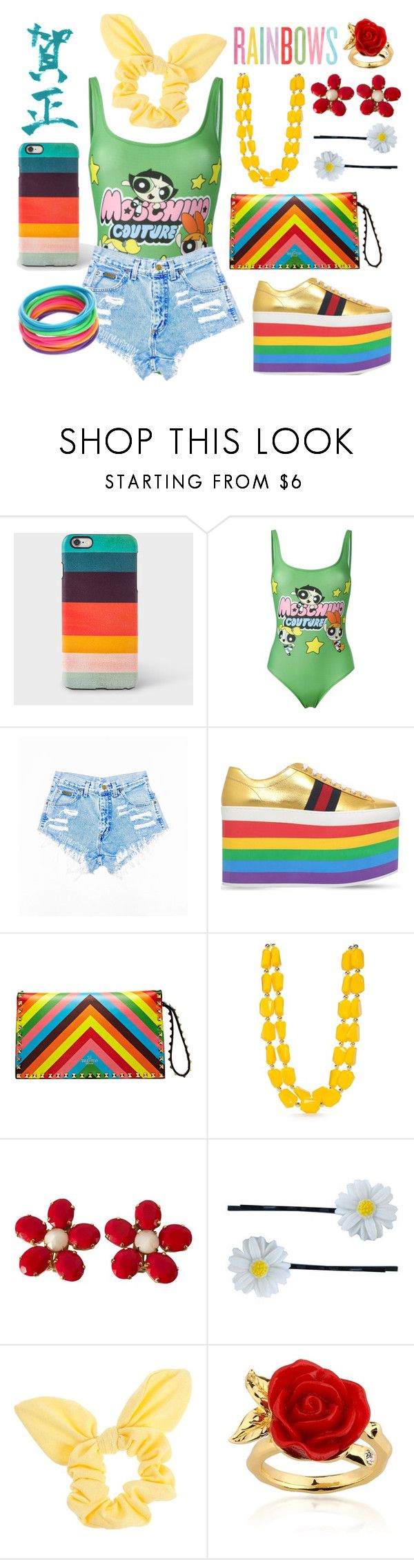 """Power Puff Girls Suit"" by mongryong ❤ liked on Polyvore featuring Paul Smith, Moschino, Gucci, Valentino, Kim Rogers, Schreiner, Clips, Dorothy Perkins and Disney"