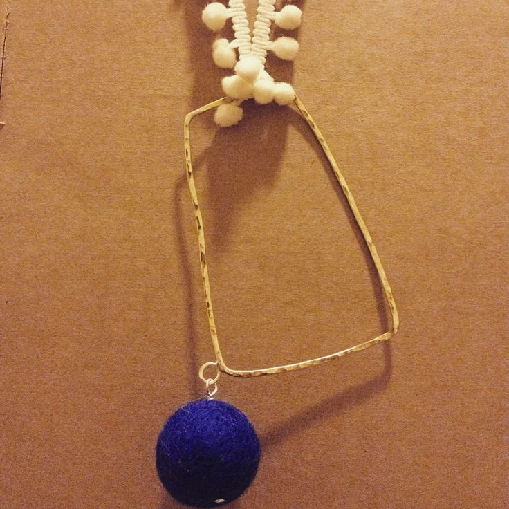 Long Pom Pom necklace