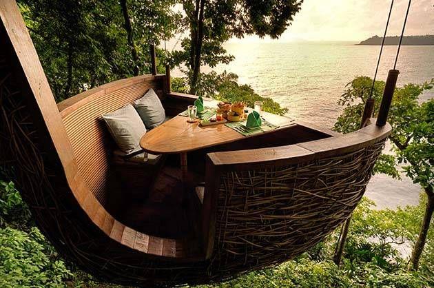 Dining - treepod dining - Soneva Maldives & Thailand