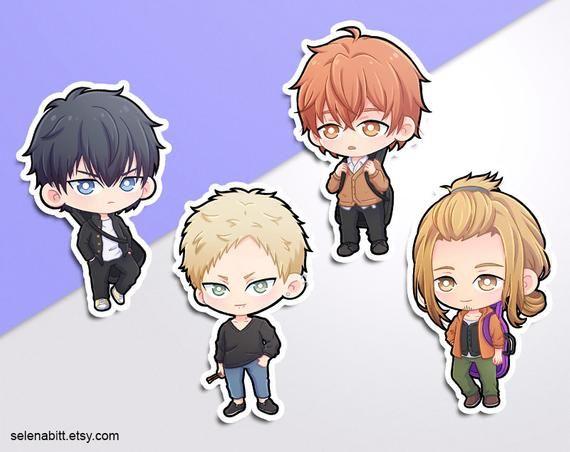 Given Stickers Uenoyama Mafuyu Akihiko Haruki Etsy Anime Stickers Anime Guys Chibi