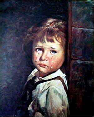 ''Os famosos quadros das crianças que choram''   //  Fonte: arquivosmisteriosos.wordpress.com/2010/11/07/os-famosos-quadros-das-criancas-que-choram e www.tabernaculonet.com.br/luz.php?facho=t00033