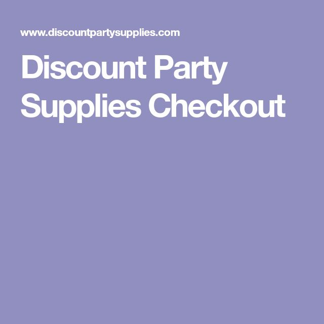 Discount Party Supplies Checkout