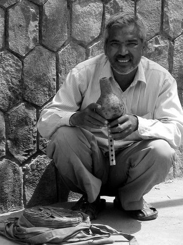India -snake charmer  by Emanuele Del Bufalo