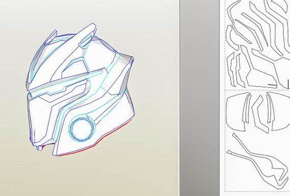 Fortnite Omega Helmet Diy Patterns Fortnite Cosplay Etsy Com