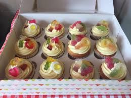 Image result for cake decorated with haribo little cupcakes sweets