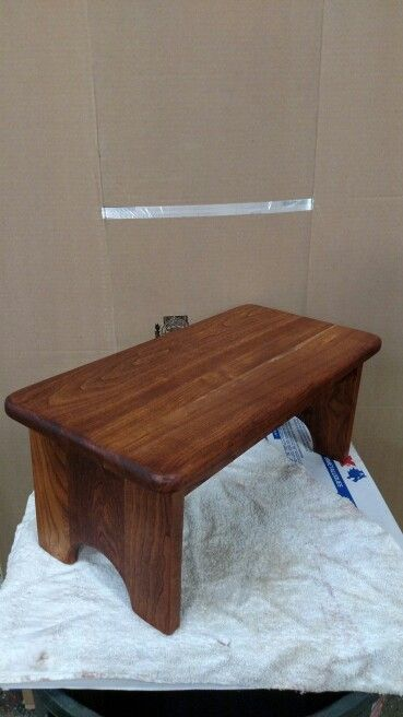 Double wide step made of cherry with a cherry tone stain and a hand rubbed finish & 15 best step stool images on Pinterest | Step stools 2 step and ... islam-shia.org