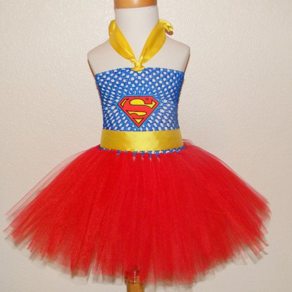 Supergirl/Superman Tutu Dress by AllysTutuBoutique on Etsy, $28.00
