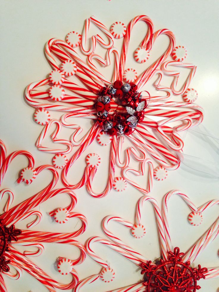 Candy cane wreaths