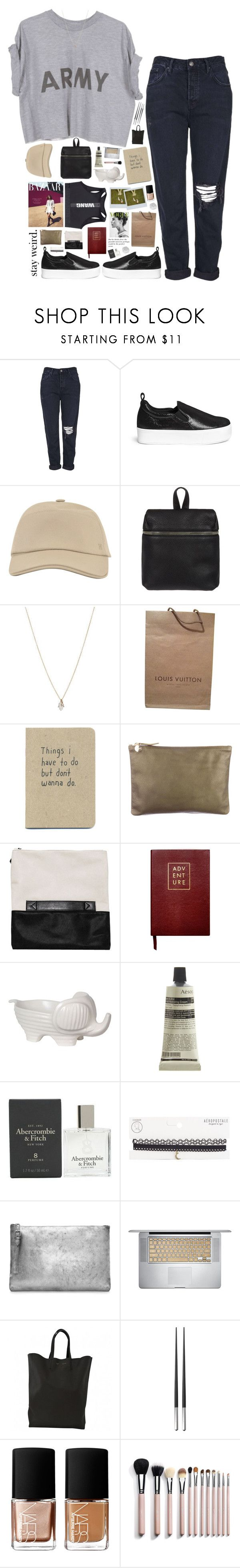 """""""The pineapple incident// NETFLIX SERIES LIST"""" by messyqueen on Polyvore featuring Topshop, Pedder Red, Hermès, Kara, ASOS, Louis Vuitton, Clare V., Sloane Stationery, Privilege and Aesop"""