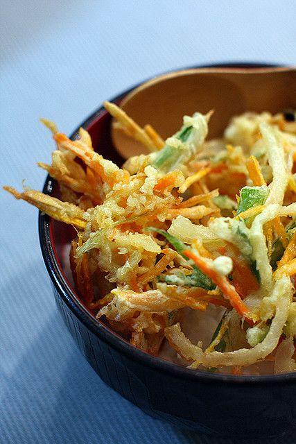 Kakiage don - Vegetable tempura over rice