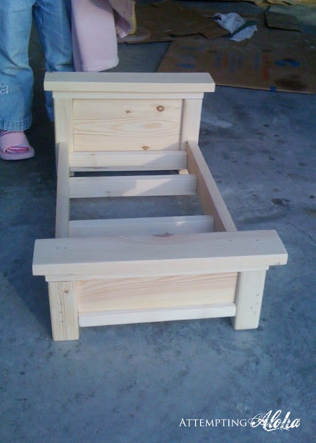 Attempting Aloha: American Girls Farmhouse Doll Bed (Cheater Cheater Version)