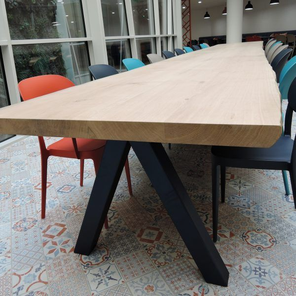 Table En Bois Massif Aubier Bords Live Edge Design Epure Table Bois Massif Table Chene Massif Table Bois