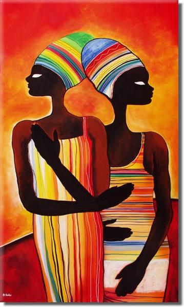 Schilderij African Colors III