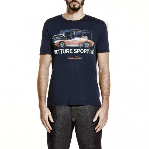 The Automobili Lamborghini Vetture Sportive soft cotton jersey T-shirt pays  tribute to the sports cars that the Sant'Agata Bolognese manufacturer has  been ...
