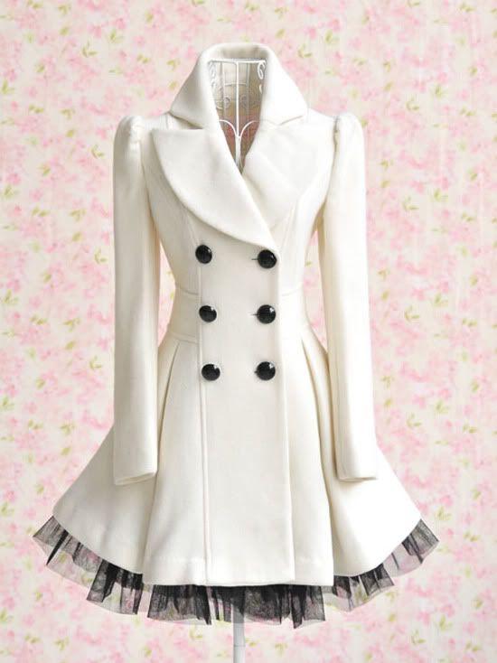 Princess Lolita Cute Sweet Gothic Nana Punk Kera Long Lace White Jacket Coat | eBay
