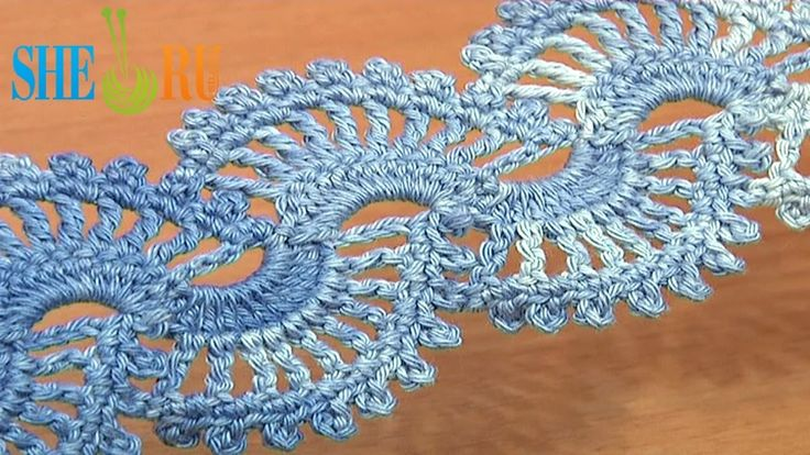 How to Crochet Lace Tape Tutorial 5 part 2 of 2 Crochet Lace Stitch Pattern