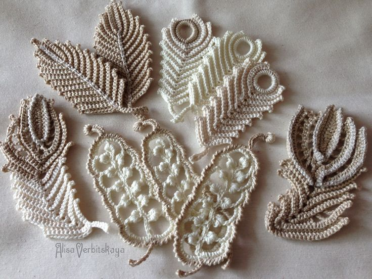 Applique 447 inches 10-12 cm Irish crochet yarn от AlisaSonya