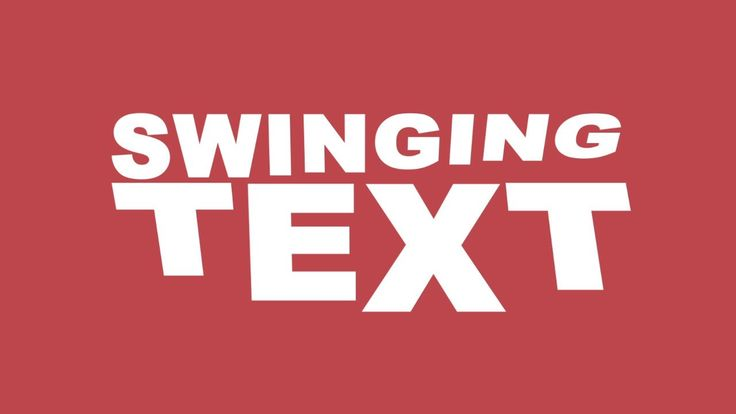 AFTER EFFECTS TUTORIAL 13: Kinetic Typography - Swinging Text on Vimeo