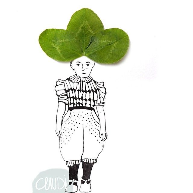 His lucky days were yet to come! And flu has decided to stay a little in CasaKessels. How are you all doing this January? #doodle #clover #luck #growluck #almost_lucky #linedrawing #illustratie #illustration #fashion #naturals #klavertje3