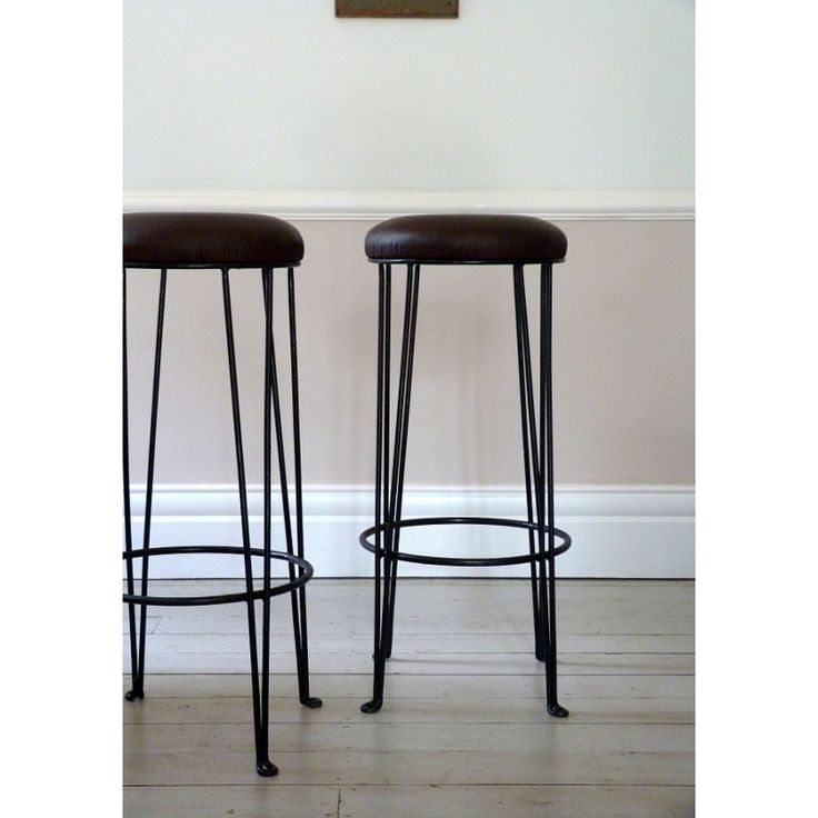 Pair Of Vintage European Cafe Bar Stools / Counter Stools