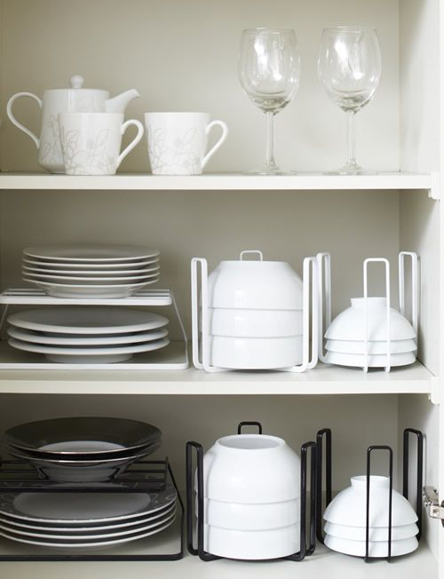 Best 25 plate storage ideas only on pinterest dream kitchens cabinets and dish storage - Dish racks for small spaces set ...