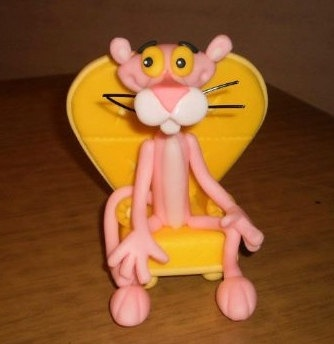 Edible Pink Panther Cake Topper