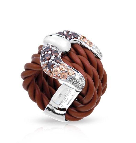 Capri Jewelers Arizona ~ www.caprijewelersaz.com Lasso Brown Ring by Belle Étoile.  Country Brown.