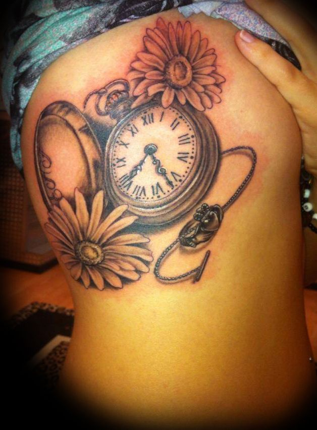 pocket watch tattoo, watch tattoo, time tattoo, color theory tattoo, jerry cross, tattoo, color theory tattoo, lombard, illinois