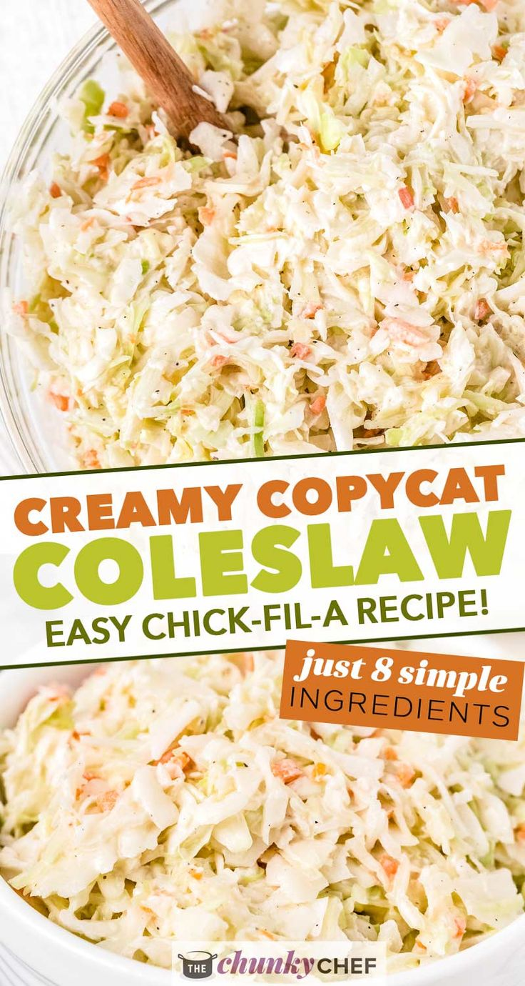 Classic and easy Coleslaw Recipe, made with crisp cabbage and carrots in a creamy, tangy and sweet homemade dressing! Re…