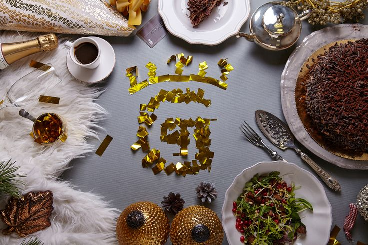 Зимнее вдохновение от Ginza Project #winter #christmas #food #newyear #party #sweet #gold #ginzaproject #beauty #love #зима #настроение #table #setting #inspiration