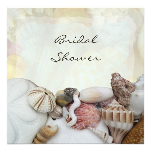 Seashells Bridal Shower Invitations