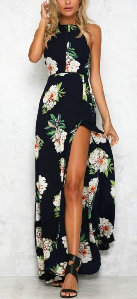 Just take this and enjoy your holiday! You're yearning to stand out from the crowd in this Backless Floral Printing Dress.oasap.com will give you a gorgeous look!