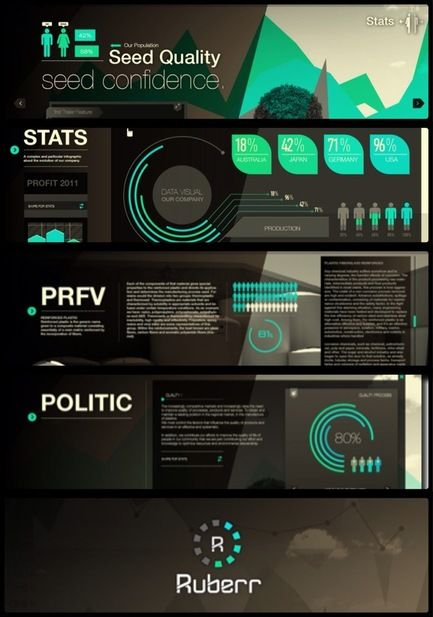 Ruberr / UI  Website & Data Visual by Martín Liveratore, via Behance