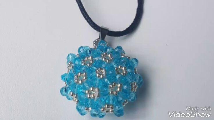 Beaded pendant free tutorial cevşen yapımı DIY