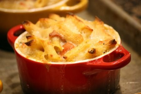 Four Cheese Penne with Sun-Dried Tomatoes and Prosciutto