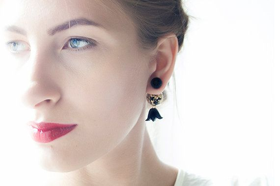 Tribal Earring boucles d'oreilles Stud Earring Double by candyfoxx