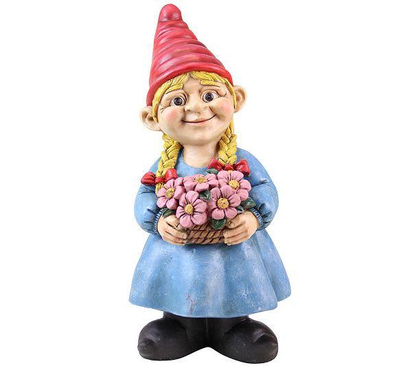 Exhart 13 Girl Gnome Page 1 Qvc Com Gnome Garden Girl