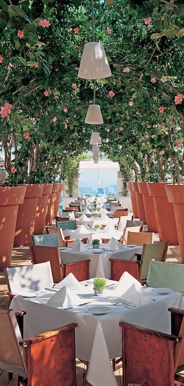 The restaurant's open-air dining creates the perfect ambiance for a great meal. #Mondrian, LosAngeles