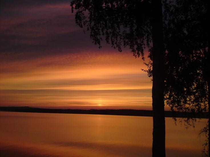 Solnedgång..