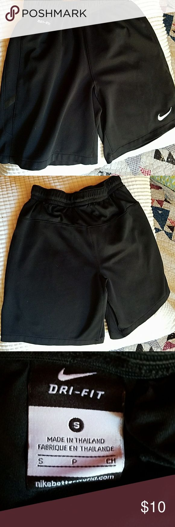 Boys Nike dry-fit shorts Black dry-fit shorts with built in brief. Like-new condition. Nike Bottoms Shorts