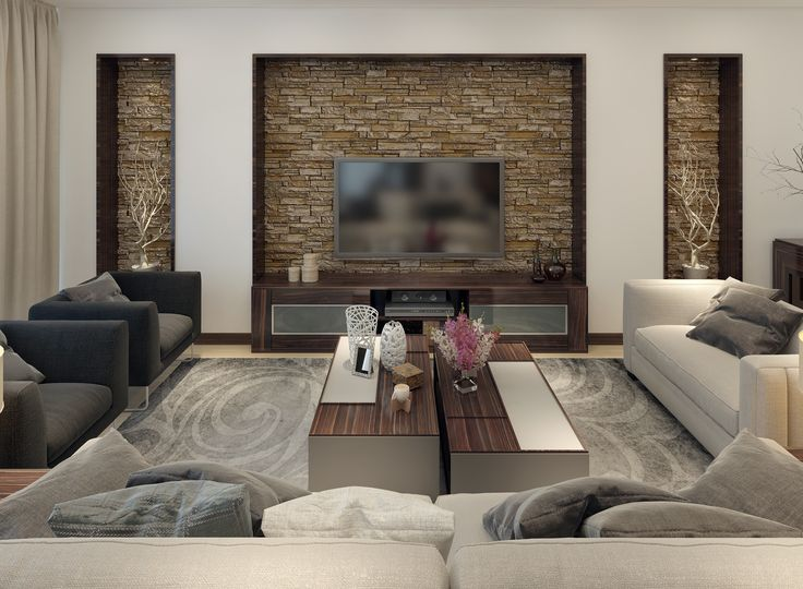 Juega con los espacios mezclando texturas y acabados por - Decoracion de paredes con piedra ...